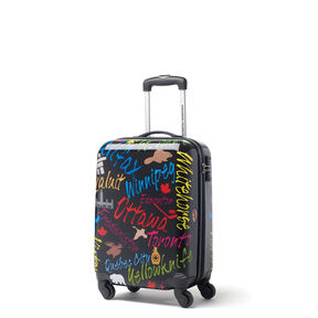 Canadian Tourister Collection Spinner Carry-On in the color Black/Multi City.