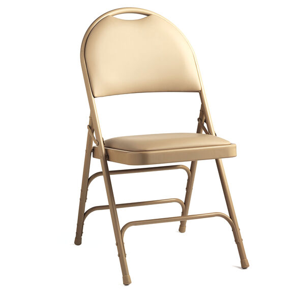 Samsonite Steel & Vinyl Folding Chair with Memory Foam  (Case/4) in the color Neutral.