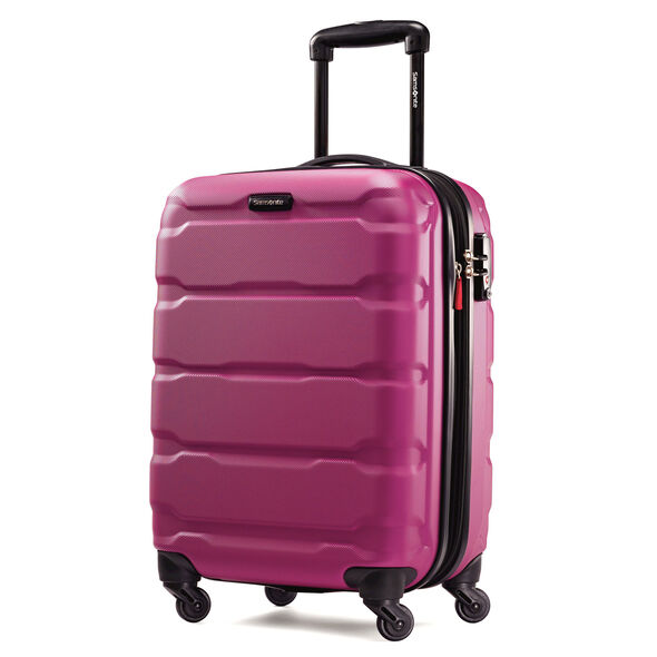 "Samsonite Omni PC 20"" Spinner in the color Radiant Pink."