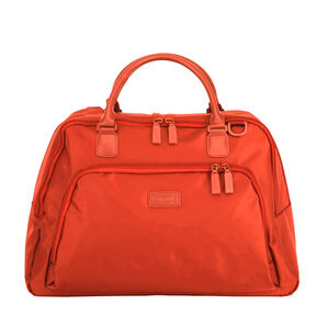 Lipault Lady Plume Weekend Bag L Pocket in the color Orange.