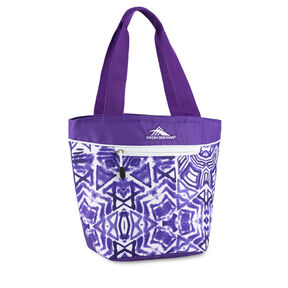 High Sierra Lunch Packs Tote in the color Purple Shibori.