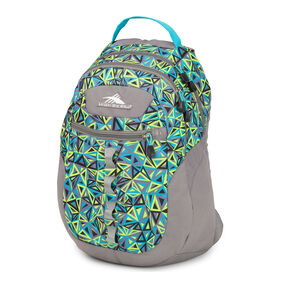 High Sierra Opie Backpack in the color Electric Geo/Charcoal/Tropic Teal.