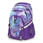 High Sierra Loop Backpack in the color Flower Daze/Deep Purple/White.
