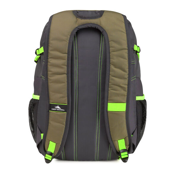 High Sierra Composite Backpack in the color Moss/Mercury/Zest.
