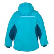 High Sierra Girl's Frankie Insulated Jacket in the color Tropic Teal/Lagoon.