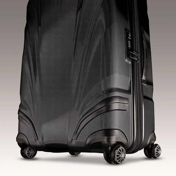 "Samsonite Silhouette XV 26"" Hardside Spinner in the color Black."
