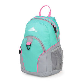 High Sierra Mini Loop Backpack in the color Aquamarine/Ash/Pink Lemonade.