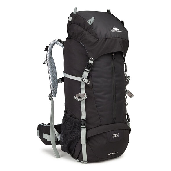 High Sierra Classic 2 Series Summit 45 Frame Pack in the color Black/Silver.