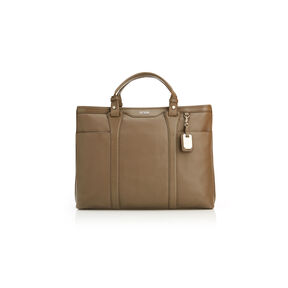Hartmann Legalite Horizontal Tote in the color Taupe.