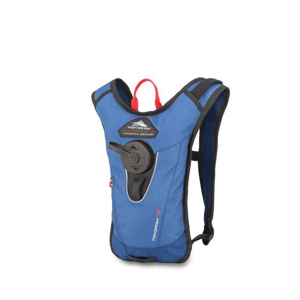 High Sierra Tokopah 1.5L Hydration Pack in the color Pilot/Atlantic/Crimson.