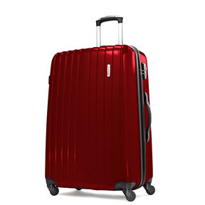 "Samsonite Carbon1 DLX 28"" Expandable Spinner in the color Red."