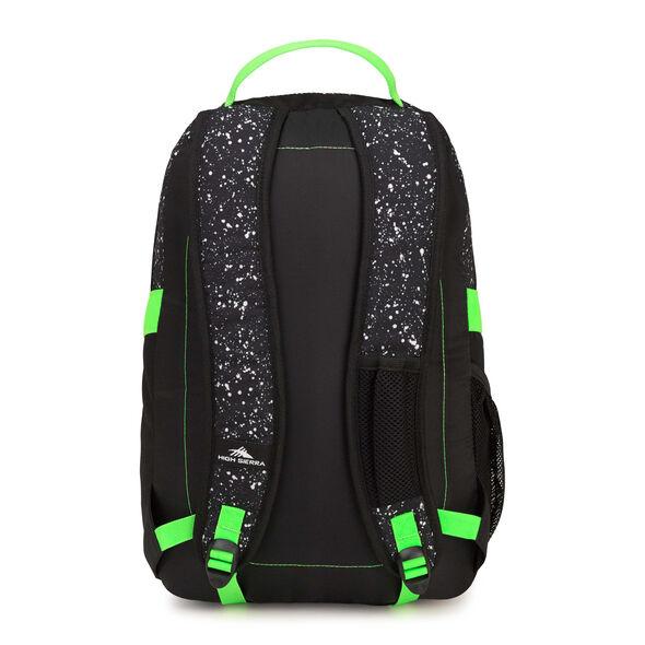 High Sierra Opie Backpack in the color Speckle/Black/Aquamarine.