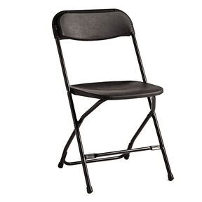 Samsonite 2200 Series Injection Mold Folding Chair (Case/10) in the color Black.