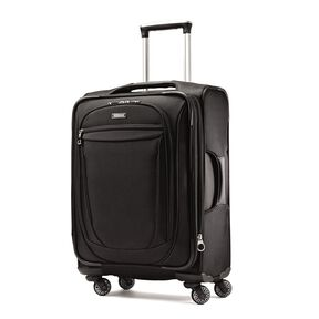 "American Tourister XLT 21"" Spinner in the color Black."