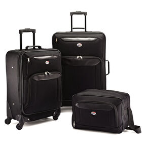 American Tourister Brookfield 3 PC Set in the color Black.