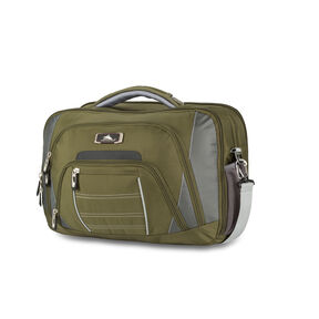 High Sierra SBT TSA Briefcase in the color Olive/Charcoal/Ash.