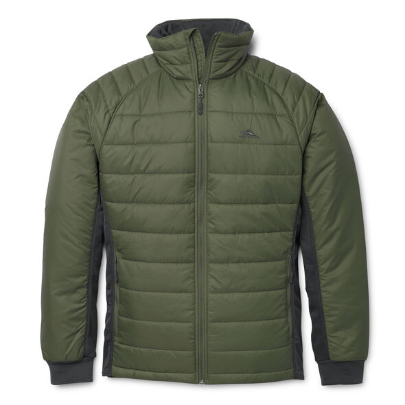 High Sierra Men's Molo Hybrid Jacket in the color Moss.