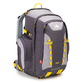 High Sierra Classic 2 Series Rappel 50 Frame Pack in the color Mercury/Ash/Yellow.