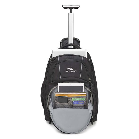 High Sierra Freewheel Wheeled Backpack in the color Black.