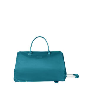 Lipault Lady Plume Wheeled Weekend Bag in the color Duck Blue.