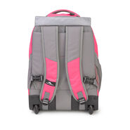 High Sierra Chaser Wheeled Backpack in the color Flamingo Pink.