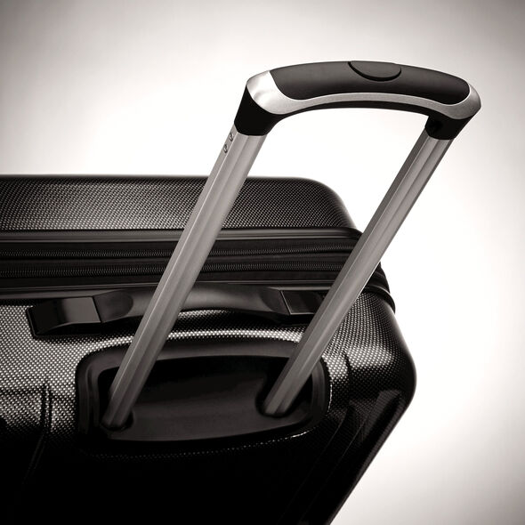 "Samsonite Carbon 2 20"" Spinner in the color Silver."