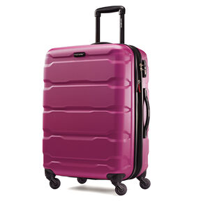 "Samsonite Omni PC 24"" Spinner in the color Radiant Pink."