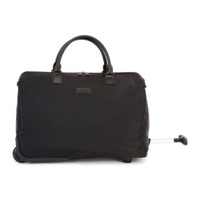 """Lipault Lady Plume 20"""" Wheeled Satchel in the color Black."""