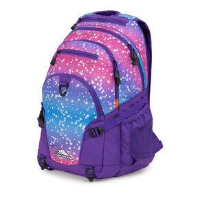 High Sierra Loop Plus Backpack in the color Stardust/Deep Purple.