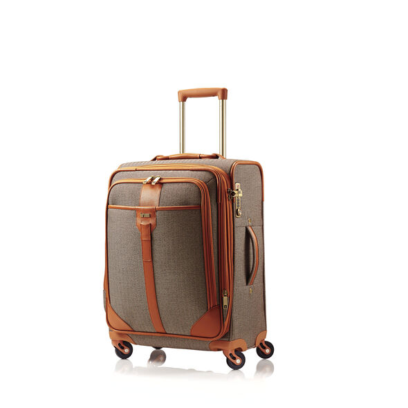 Hartmann Herringbone Luxe SS Carry On Spinner in the color Terracotta.