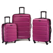 Samsonite Omni PC Spinner Set in the color Radiant Pink.
