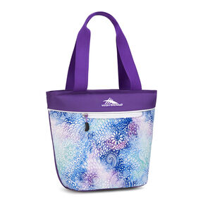 High Sierra Lunch Packs Tote in the color Flower Daze/Deep Purple/White.