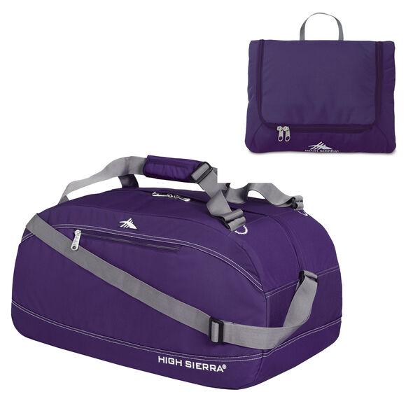 """High Sierra 30"""" Pack-N-Go Duffel in the color Deep Purple."""