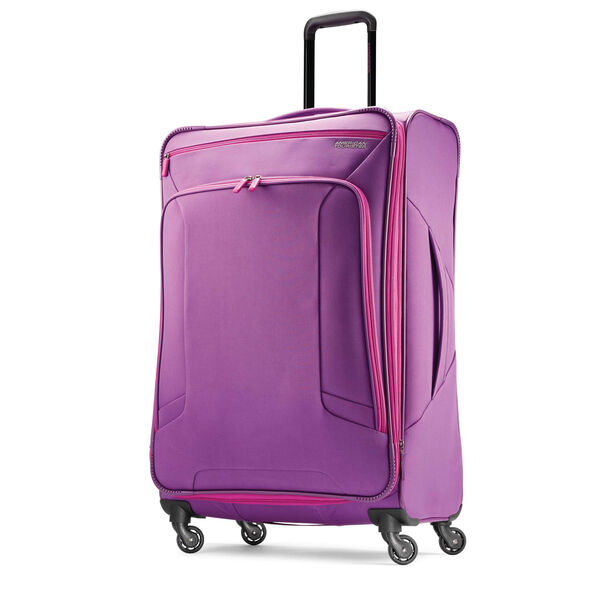 """American Tourister 4 Kix 28"""" Spinner in the color Purple/Pink."""