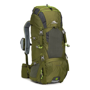 High Sierra Tech 2 Series Hawk 40 Frame Pack in the color Moss/Mercury/Chartreuse.