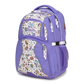High Sierra Swerve Backpack in the color Lavender/Sweet Cakes.