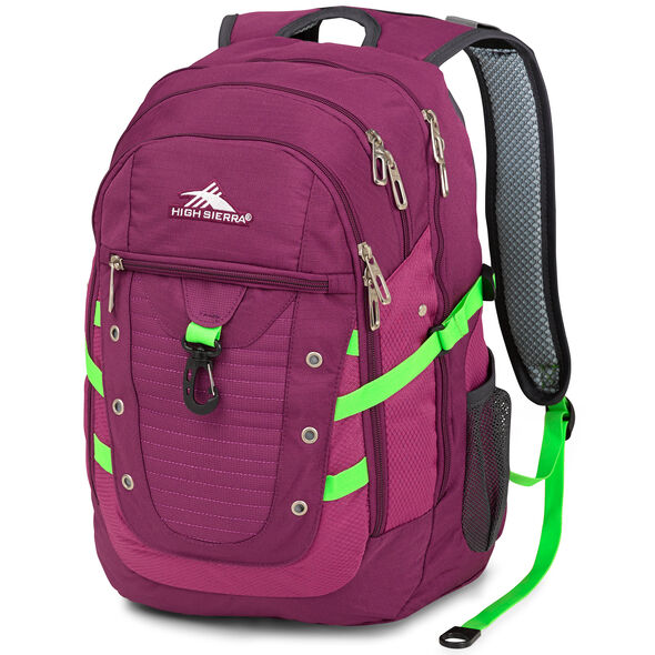High Sierra Tactic Backpack in the color Berry Blast/Razzmatazz.
