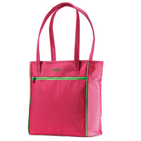 American Tourister Skylite Shopper in the color Raspberry/Lime.
