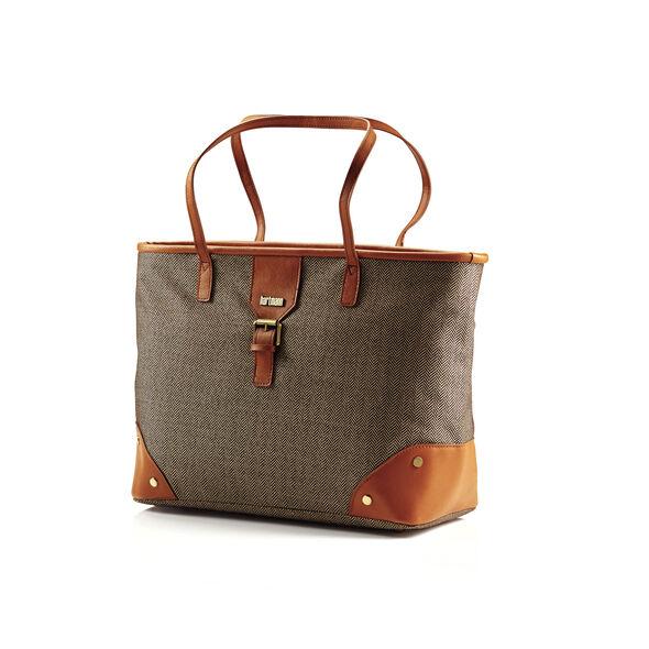 Hartmann Herringbone Luxe SS Shoulder Bag in the color Terracotta.