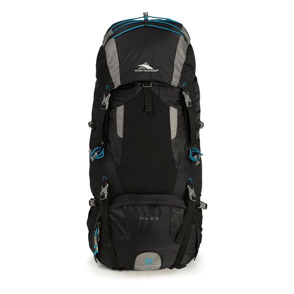 High Sierra Tech 2 Series Hawk 45 Frame Pack in the color Black/Charcoal/Pool.