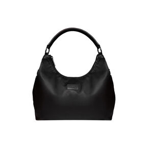 Lipault Lady Plume Hobo Bag L in the color Black.