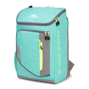 High Sierra Poblano Backpack in the color Aquamarine/Charcoal/Zest.