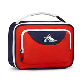 High Sierra Lunch Packs Single Compartment in the color Crimson/True Navy/ White.