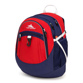 High Sierra Fat Boy Backpack in the color Crimson/True Navy/ White.