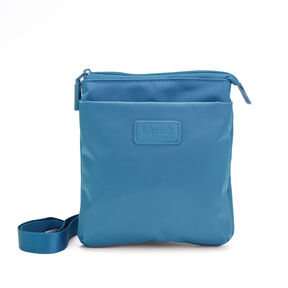 Lipault Original Plume Medium Cross Body in the color Duck Blue.