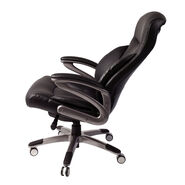Samsonite Santa Barbara Premium Bonded Leather Chair in the color Black.