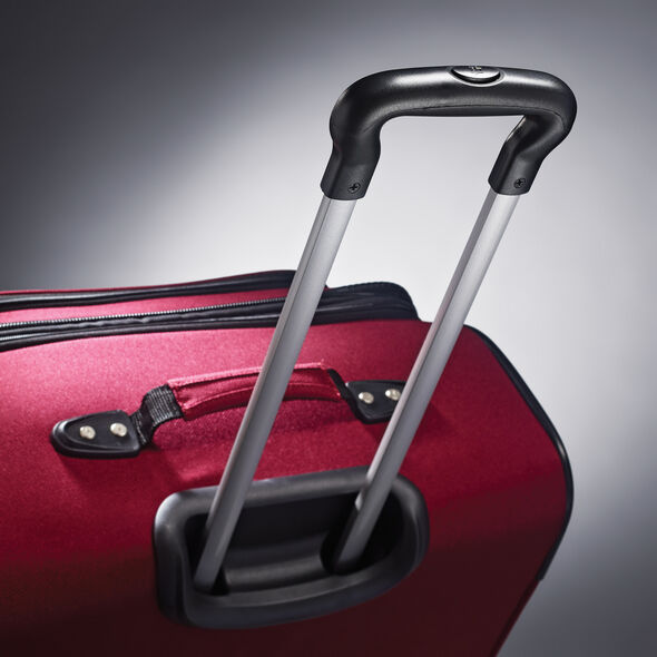 "American Tourister Bedford 21"" Spinner in the color Ruby Red."