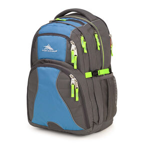 High Sierra Swerve Backpack in the color Slate/Mineral/Zest.