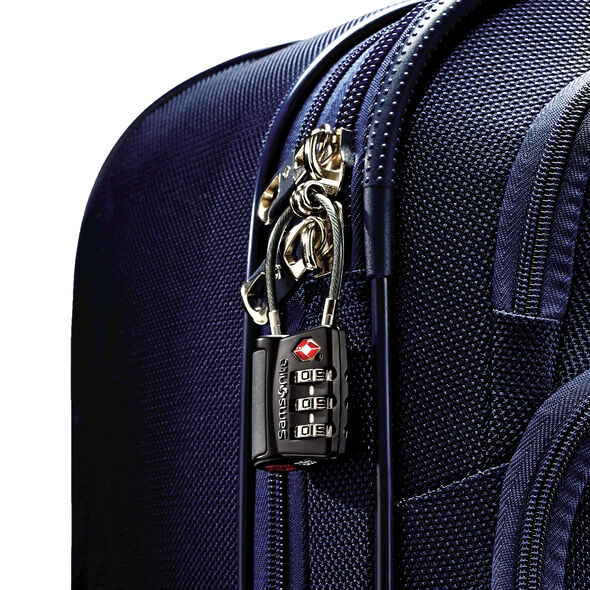 Samsonite 3 Dial Travel Sentry Cable Lock in the color Black.