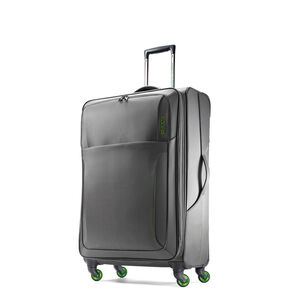 """American Tourister LiteSPN 20"""" Spinner in the color Grey/ Green."""